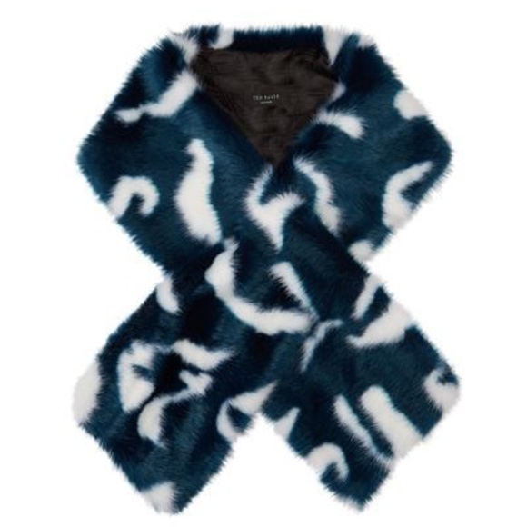 Ted Baker Accessories - Ted Baker Zellia Color Block Teal Tail Scarf